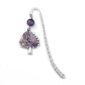 Amethyst Bookmark Tree of Life Charm Style Tibetan Purple UK Seller