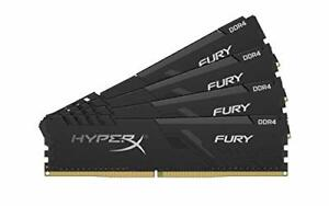 HyperX Fury 64GB 2666MHz DDR4 CL16 DIMM (Kit of 4)� Black XMP Desktop Memory