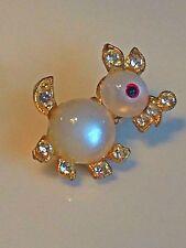 "Vintage Jelly Belly Rhinestone Dog Scottie Brooch Estate Costume Jewelry 1"""