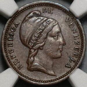 1852 NGC XF 40 Venezuela 1/4 Centavo Liberty Head Coin (20071404C)
