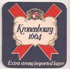 """Kronenbourg - alter Bierdeckel """"Kronenbourg 1664 Extra strong imported beer"""""""