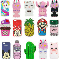 3D Cartoon Silicone Cover Case For iPhone 5 5C 6S 7 8 Plus XR XS Max Touch 7 6 5