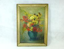 Blumenbild Bild Ölbild Gemälde um 1900 signiert B-1023