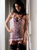 Ann Summers Florence Pink Suspender Cami Sz 8 *In Stock*