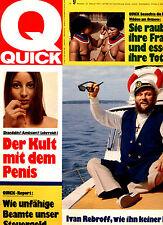 Kult-Illustrierte QUICK, Nr 9  v. 1972,  Ivan Rebroff Cover, Wilde am Orinoco