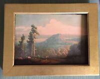 Antique Catskill Mountain Landscape Chromolithograph Hudson River 19th c. Eglau