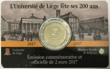 COINCARD 2 EURO BELGIQUE 2017 * UNIVERSITE DE LIEGE  /  BU  / DISPONIBLE