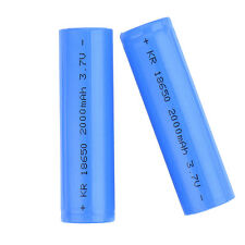 2 Pcs 18650 Rechargeable Li-ion Vape Battery 2000mAh 3.7V Unprotected Divine