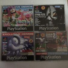 X 4 OFFICIAL PS1 DEMO DISCS 37 38 47 53 - TOMBI / Crash / Medievil