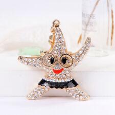 Women's Starfish HandBag Charm Keychain Alloy Key Ring Wedding Fashion Key Chain