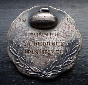 RARE Curling Pin - St George's NB? 1961 Open Bonspiel Winner