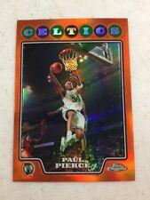 2008 Topps Chrome Paul Pierce Orange Refractor Card 3/499 Celtics