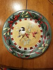 Lenox Christmas Plate with Chickadee