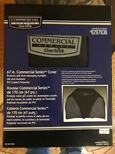 """New Free Shipping  Char-Broil COMMERCIAL SERIES COVER 67"""" GRILL COVER"""