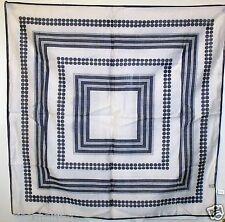 Vintage made in japan gris géométrique col ~ square ~ foulard ~ écharpes # 11