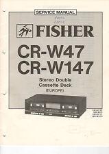 FISHER Service Manual Anleitung CR-W47 CR-W147   B1463