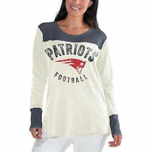 New England Patriots Women's Fan Club Long Sleeve Thermal Shirt - Cream