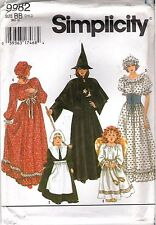 Simplicity 9982 Costume Sewing PATTERN Girls Witch Pilgrim Angel & More Sz 2-12