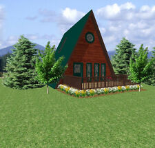 Tiny A-Frame House Plans  24 x 26
