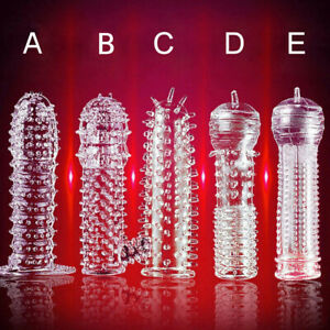 Reusable Crystal Dragon Condom Stimulate Ejaculation Delay Penis Sleeve For Male