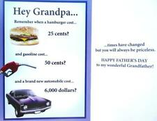 "GRANDPA ""Times Have Changed But You'll Always Be Priceless!"" FATHER'S DAY CARD"