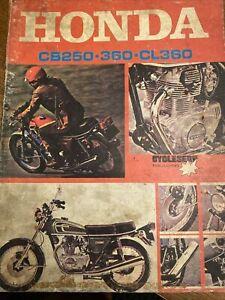 1974 HONDA CB250 360 CL360 SERVICE & REPAIR MANUAL Cycleserv