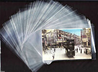 Lot 100 X OPP Clear Plastic Sleeves 9.5 cm X 15.5 cm, Pictures /Postcard