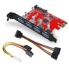 Inateck Superspeed 4 Ports PCI-E to USB 3.0 Expansion Card - Interface USB 3....
