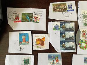 Lettland 2021/2020 , Briefmarken Kiloware