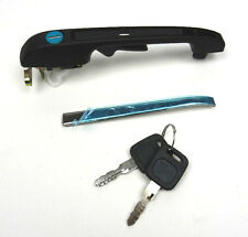 AUDI 80 100 200 BLACK LEFT OUTER DOOR HANDLE WITH LOCK AND KEY 813837205C