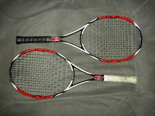 Two (2) Wilson K factor 95 Tennis Rackets. Grip size 3, and Grommet Set