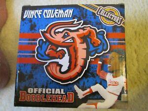 Vince Coleman signed/auto Jacksonville Jumbo Shrimp SGA Bobblehead w/ticket