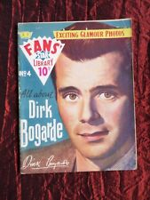 """FANS STAR LIBRARY"" - ALL ABOUT  DIRK BOGARDE  - #4  MAGAZINE - 1958"