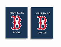 PERSONALIZED Boston Red Sox Light Switch Covers MLB Baseball Home Decor