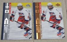 Lot (2) 1995-96 Upper Deck USA World Junior TOM POTI #568 Base & Electric Ice RC