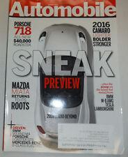 Automobile Magazine Porsche 718 & 2016 Camaro August 2014 031115R