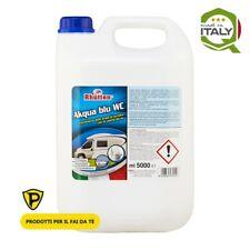 NEW Rhutten AKQUA BLU WC 5L CAMPER Liquido chimico specifico per il trattamento