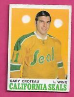 1970-71 OPC  # 189 GOLDEN SEALS GARY CROTEAU  ROOKIE EX+ CARD (INV# D5049)