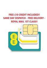 100x EE £10 Credit/Loaded EE 3 in 1 Sim Cards.preloaded Sim .