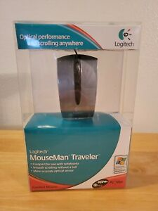 New USB Wired Logitech MouseMan Traveler Mouse For Laptop/Notebook PC/Mac