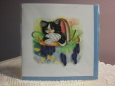 Quilling Cards LLC - 3D Black & White Kitten Note Card