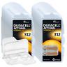 120 Duracell Activair Hörgerätebatterien PR41 Braun 312 + Box für 2 Zellen