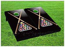 VINYL WRAPS Cornhole Boards DECALS Pool Billiard Game BagToss Game Stickers 515