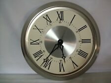 "15"" Stainless Steel Frame Wall Clock w/ Metal Tradition Dial USA Quartz Movement"