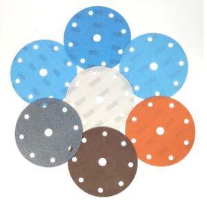 "6"" 150mm 6 9 15 17 Hole soft superfine wet/dry hook&loop sandpaper 600-5000 grit"