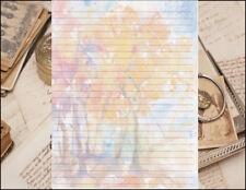 Abstract Fall Foliage  Lined Writing Paper Set 25 sheets & 10 envelopes 8.5 X 11