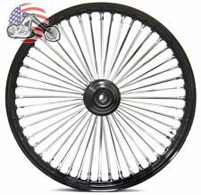 "21"" x 3.5"" 48 Fat King Spoke Front Wheel Black Rim Single Disc Touring & Softail"