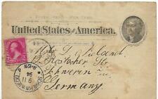 USA- 1894- POSTAL CARD GESANDT NACH SCHWERIN-GERMANY