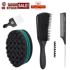 Afro Hair Twist Sponge Brush Coils Wave Hair Curl Brush Detangling hairbrush Set