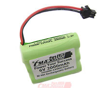NiMH 6V 2000mAH Rechargeable Battery for 80 Led Solar Bulbs Light SM2P AA_5SW US